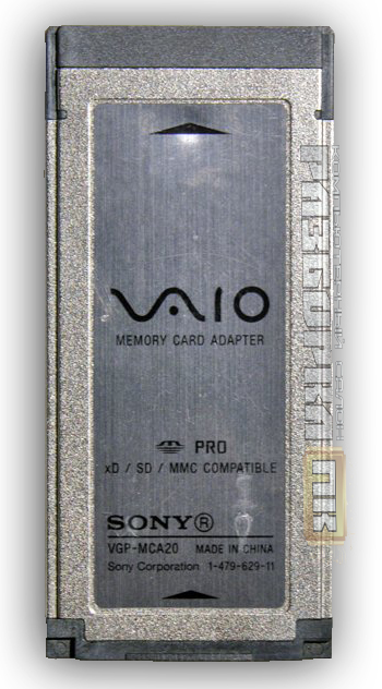 Адаптер для ноутбука Sony VAIO Memory Card Adapter  VGP-MCA20A Pro/xD/SD/MMC compatible